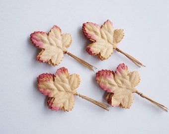 20 Maple Mulberry Paper Leaves, Maple Paper Leaves, Maple Leaf