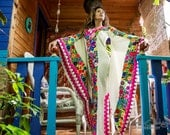 The Most Astonishingly Beautiful Hand Embroidered Kimono/Tunic Style Mexican Dress