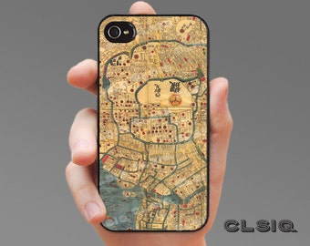 Vintage Tokyo Japan Illlustrated Map Case for iPhone 6, iPhone 6 Plus, iPhone 5/5s/5c, or iPhone 4/4s, Samsung Galaxy S5, Galaxy S4, S3
