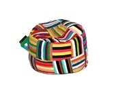 Up-cycled Colorful African Bean Bag