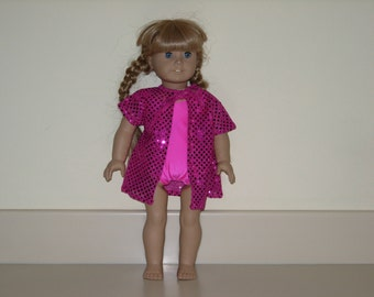 American girl doll bathing suit and cover up