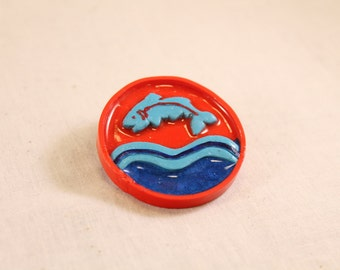 House Tully Fish Pin Polymer Clay Nerd Jewelry