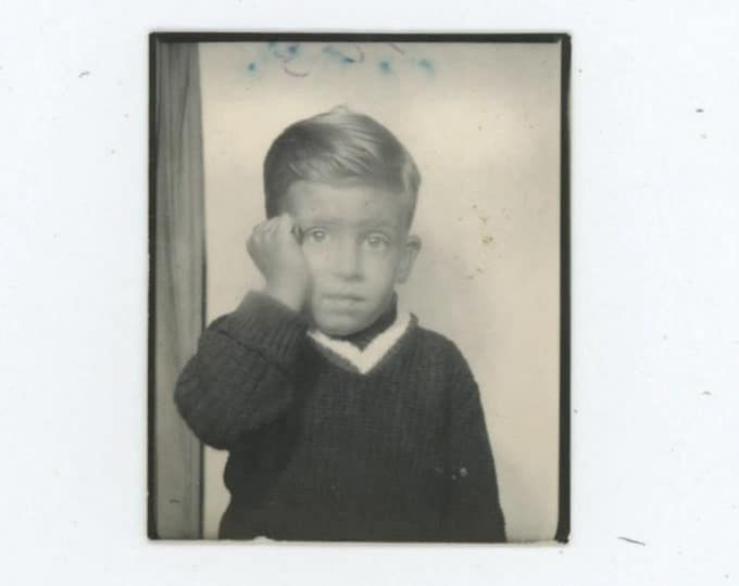 Vintage Photo Booth, 1950s: Small Boy (54353)