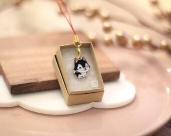 Tiny Husky Keychain