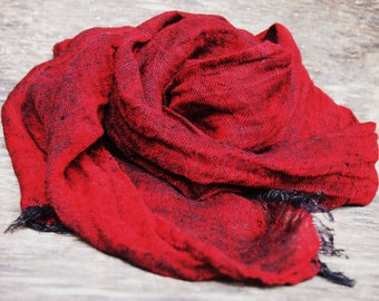 100% Linen Scarf, Many Color, Eco Scarf, Women, Men Accessories