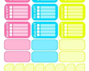 Do Stuff, Buy Stuff, Clean Stuff - Summer Sherbet - Erin Condren Planner Stickers