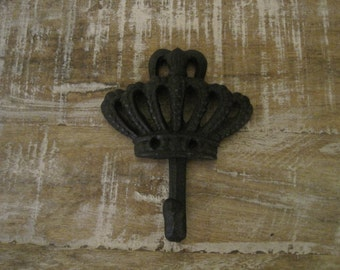 Crown Wall Hook - Hook - Cast Iron Hook - Black Crown Wall Hook - Wall Hanger - Home Decor