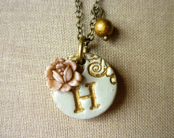 Girl Initial necklace, Flowergirl Jewelry, Small Letter Pendant for 2 to 12 years old girl, Petite Necklace, baby girl gift