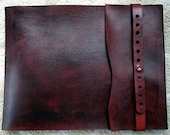 Leather Sketchbook, Refillable Sketchbook, Large, sketchbook cover - Curved Flap, Journal, Drawing Book, Leather Bound, Notebook, Guest Book