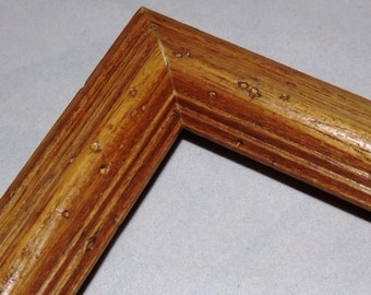 11 x 14 ~ Ready to Ship Picture Frame ~ Oak ~ Medium Color Stain ~ Worm Holes ~ 1 1/8 x 3/4 in x 5 1/6 in deep