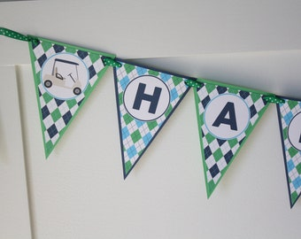 Golf Birthday Banner, Golf Party Banner