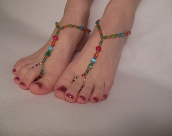 Brightly Colored Barefoot Sandals