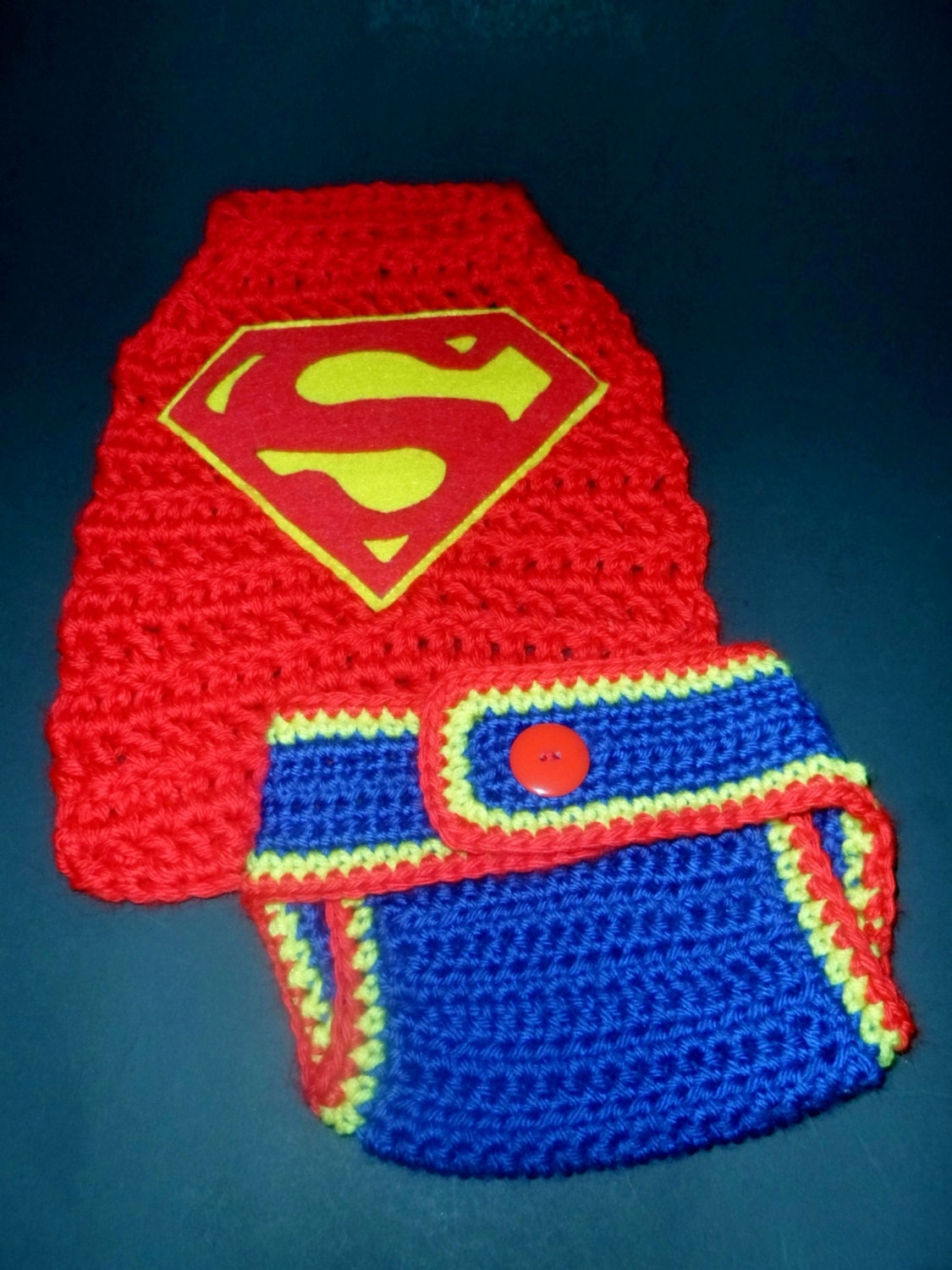 Free Crochet Pattern Baby Capelet : Crochet Baby Boys 0-3 mo Superhero Cape and Diaper Cover