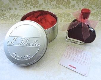 Red WRITING INK - J Herbin Ink- Forget Me Not Writing Ink - Dip pen Ink - Calligraphy Ink - Rouge Opera Ink - Ink in Heart Bottle