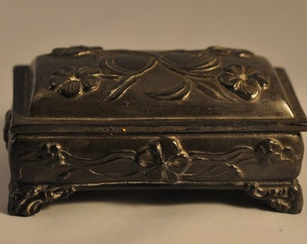 Victorian Art Nouveau Jewelry Casket