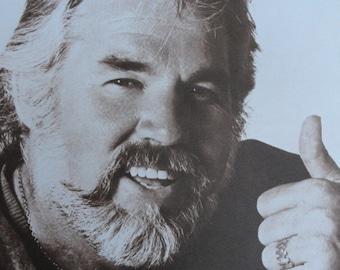 "Kenny Rogers Sepia print  HUGE 11x14"""