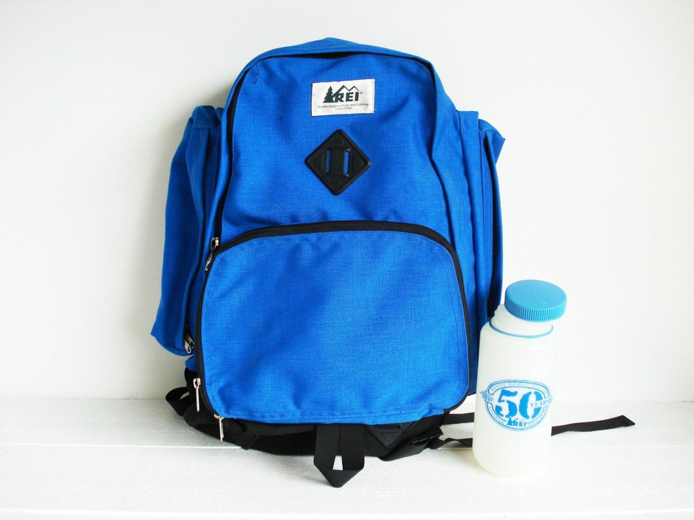 Vintage Bright Blue Rei Backpack