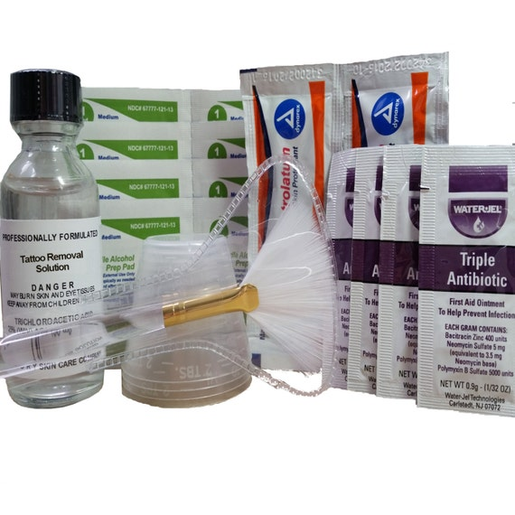 Tattoo removal kit tca with instructions by theoryskincare for Triple antibiotic ointment on tattoos