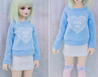 BJD Sweater for Slim MSD Minifee or SD - Hug Me