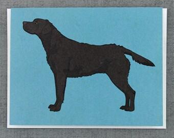 Black Labrador Retriever Dog Note Card Stationery