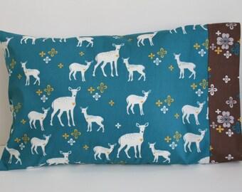 Organic Pillowcase: Deer Ones, Forest, Toddler Pillowcase, Travel Pillowcase, Pillow Case, Woodland, Trees, Brown