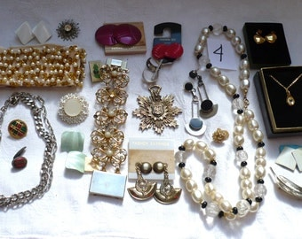 Jewelry Destash Lot 4-Necklaces,Earrings,Bracelets