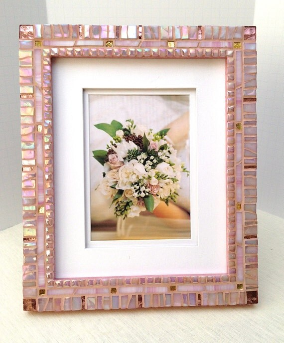 mosaic photo frame 8 x 10 frame rose gold decorative. Black Bedroom Furniture Sets. Home Design Ideas