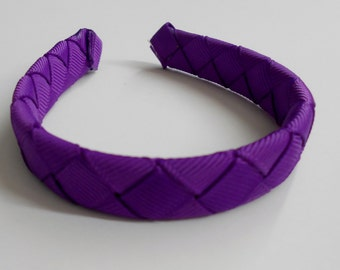 Purple woven headband for American Girl and other 18 inch dolls