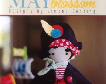 "May Blossom ""Clementine"" MB060 15"" Soft Pirate Doll Pattern"