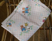 French vintage child's flat sheet