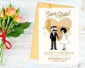 Custom Baltimore Mr. Boh & UTZ Girl Wedding Printable Invite