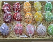 Traditional, Hand painted Madeira Easter Eggs - 15 piece set