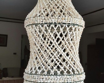 White Nassa Shell Chandelier Shade Bubble