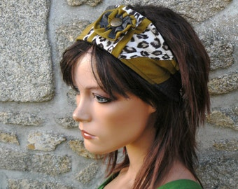 headband hair in recycled fabrics