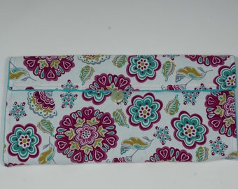 Floral Diaper Clutch and Changing Pad