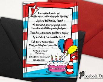 Dr. Seuss Themed Birthday Invitation (Design Fee)