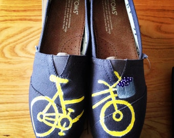 Bicycle Tom shoes-handpainted