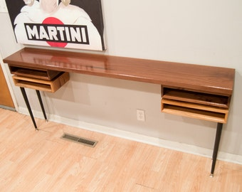 Thick Walnut Topped with Cherry and Walnut Sofa Table/Entry Table