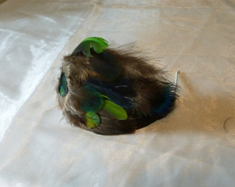 SALE  Feathered fascinator