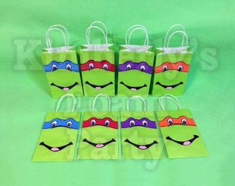 8 Ninja Turtles Party bags