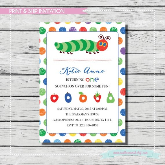 The very hungry caterpillar invitations lookup beforebuying the very hungry caterpillar birthday eric carle birthday party print filmwisefo