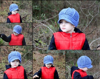 Crochet Newsboy hat.Size:5-8y.old.Ready to ship.