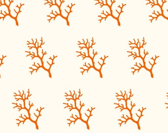 Coral Branch Gift Wrap