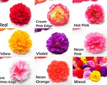 """2"""" Hawaiian Carnation Heads (Pack of 12) - Artificial Flower, Silk Flower Heads"""