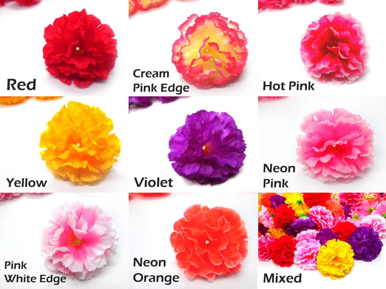 2 hawaiian carnation heads pack of 12 artificial - Clases de flores y sus nombres ...