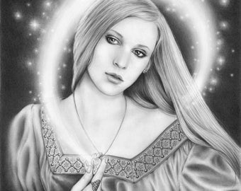Touch of Magic - 11x14 original pencil drawing - Free shipping
