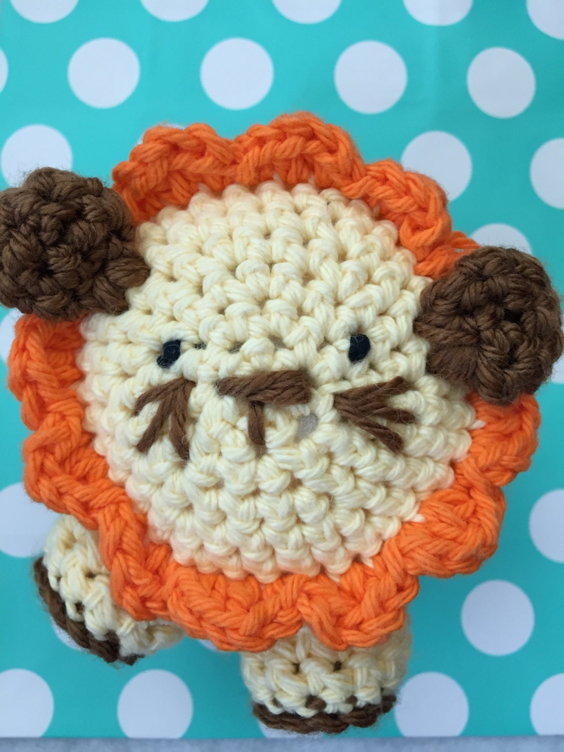 Amigurumi Stuffing : Amigurumi Lion Stuffed Animal by hookedandloopy on Etsy