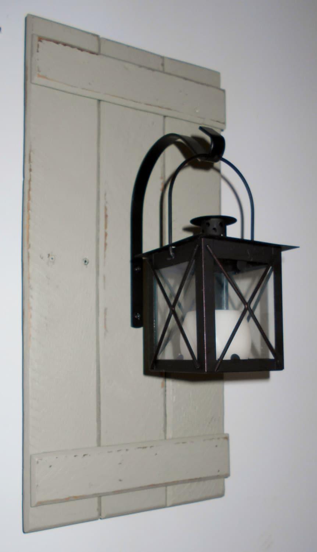 Wall Lantern Etsy : Lantern Wood Pallet Lantern Wall Hanging by PineTerraceTreasures
