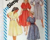 Shirt waist dress bias cut skirt size 8 to 12 with pockets sleeve options