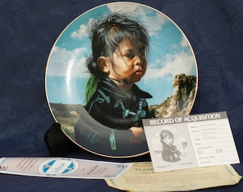 35%DISCOUNT! Please use Coupon Code: CLRNCE35-1988 Navajo Little One Collectible Plate